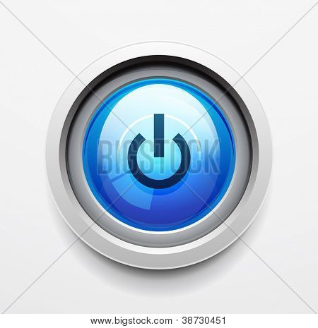Glanzende Power | Start, knop. Vector icon
