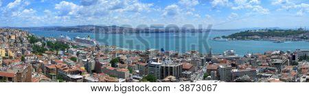 Bosphorus Panoramic View From Galata Tower