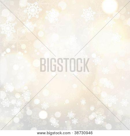 Schneeflocken und Sterne Weihnachten Hintergrund