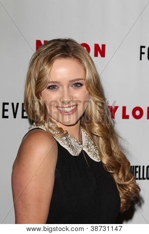 LOS ANGELES - OCT 15:  Greer Grammer arrives at  Nylon's October IT Issue party at London West Hollywood on October 15, 2012 in Los Angeles, CA