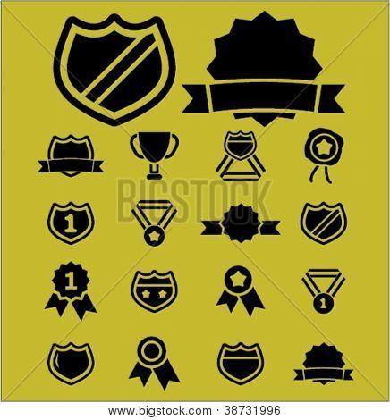 Premios & conjunto de iconos de trofeo, vector