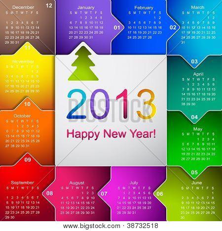 Clean 2013 business wall calendar