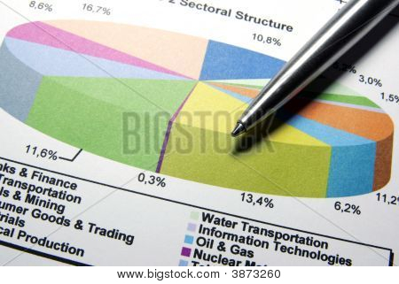 Steel Pen And Financial Data.