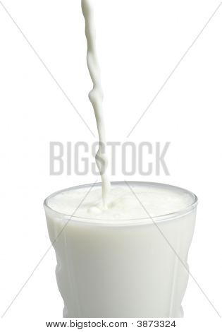 Pouring Milk On White