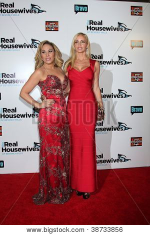 "LOS ANGELES - OCT 21:  Adrienne Maloof, Camille Grammer arrive at ""The Real Housewives of Beverly Hills"" Season three premiere event at Roosevelt Hotel on October 21, 2012 in Los Angeles, CA"