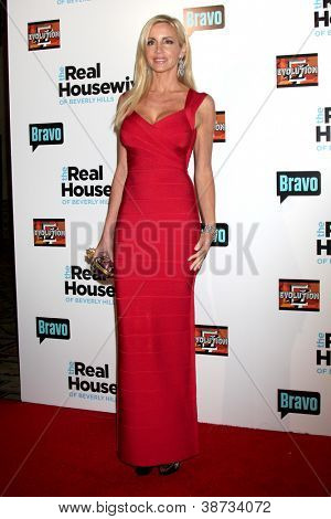 """LOS ANGELES - OCT 21:  Camille Grammer arrives at  """"The Real Housewives of Beverly Hills"""" Season three premiere red carpet event at Roosevelt Hotel on October 21, 2012 in Los Angeles, CA"""
