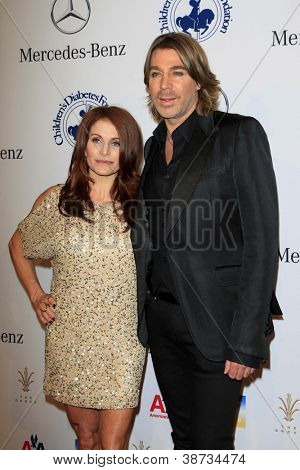 LOS ANGELES - OCT 20:  Chaz Dean, sister Joanne arrives at  the 26th Carousel Of Hope Ball at Beverly Hilton Hotel on October 20, 2012 in Beverly Hills, CA