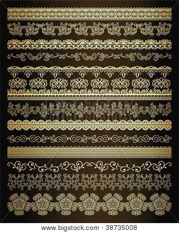 Gruppe von Linien, nahtlose golden