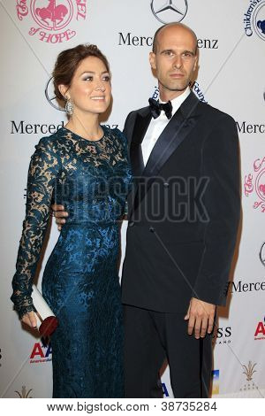 LOS ANGELES - OCT 20:  Sasha Alexander, Edoardo Ponti arrives at  the 26th Carousel Of Hope Ball at Beverly Hilton Hotel on October 20, 2012 in Beverly Hills, CA