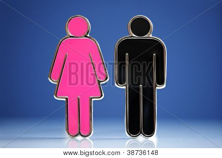 Male and female gender symbols concept for love, relationship, dating etc