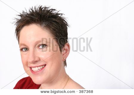 Woman Looking At You With A Smile