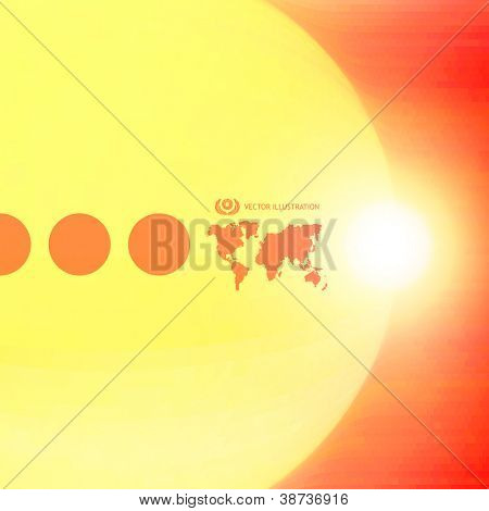 Sunny abstract background. Solar energy concept