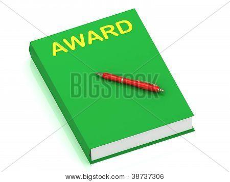 Award Inscription On Cover Book