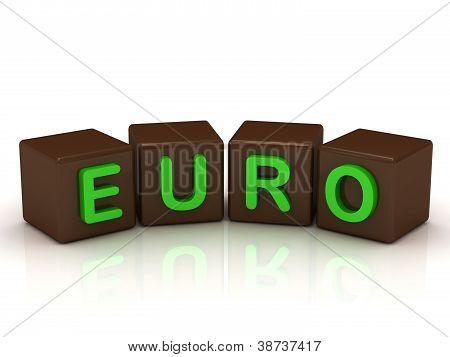 Euro Inscription Bright Green Letters