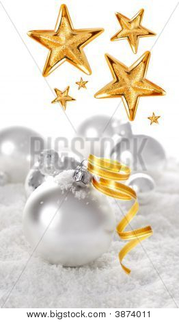 Snow Christmas Ornaments