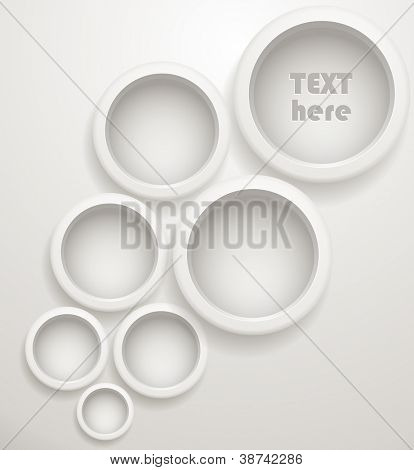 Abstract grey circles. Template for a text