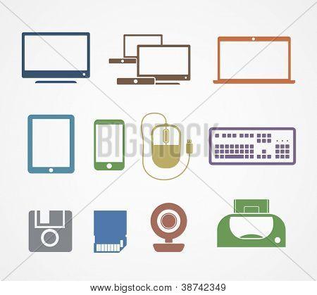 Ícones de material digital