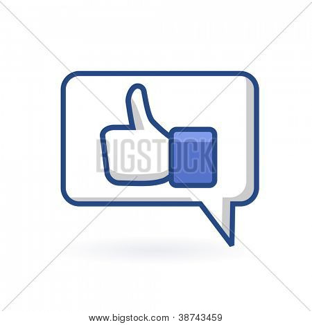 Hand in Bubble. Vector Design Element. Chat Box.