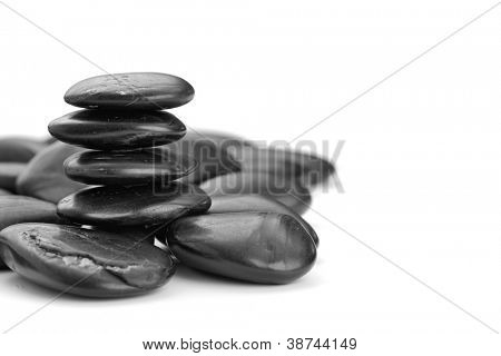 zen stones on the white background