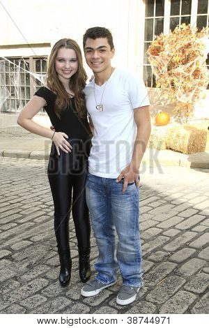 LOS ANGELES - OCT 21: Sammi Hanratty, Adam Irigoyen at the Camp Ronald McDonald for Good Times 20th Annual Halloween Carnival at Universal Studios Backlot on October 21, 2012 in Los Angeles,California