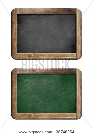 old small blackboards set with wooden frame