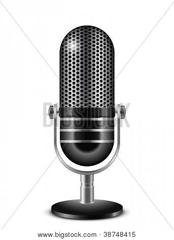 Vector illustration of retro microphone