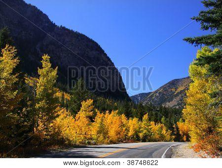 Scenic drive through Colorado San Juan mountains