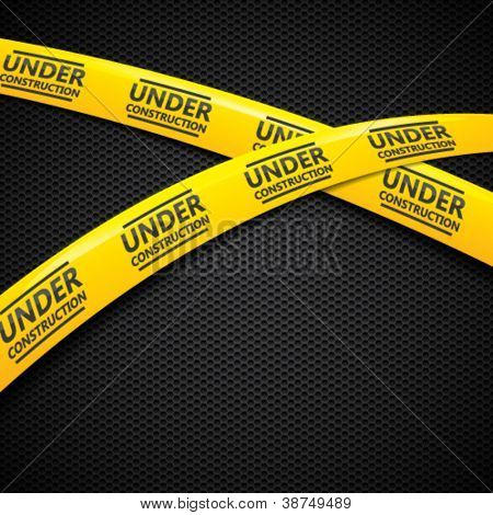Under construction caution tapes