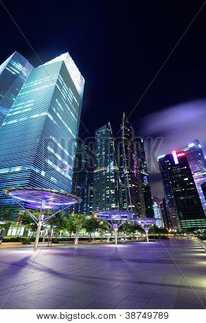 Cidade de Singapura ao entardecer