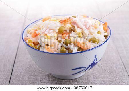 cantonese rice and chopsticks