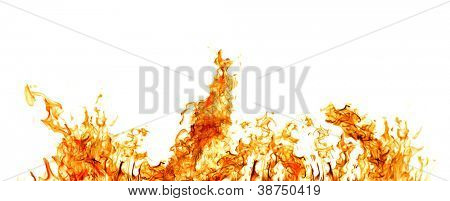 orange Flamme, isolated on white background