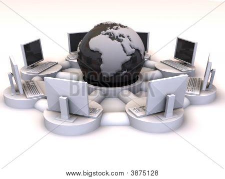 Konzept des internet