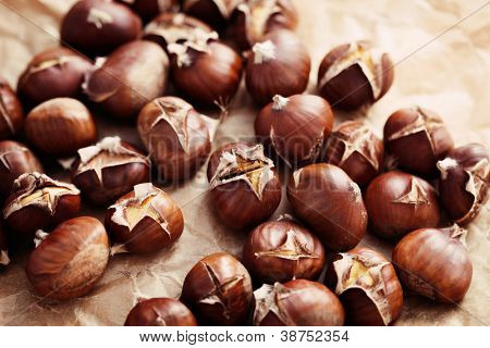 nice edible chestnuts - food and drink