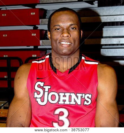 NEW YORK-OCT. 23: St. John's Red Storm forward God'sgift Achiuwa during media day on October 23, 2012 at Carnesecca Arena, Jamaica, Queens, New York.