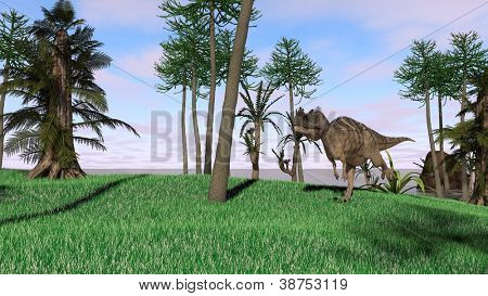 cerantosaurus in jungle