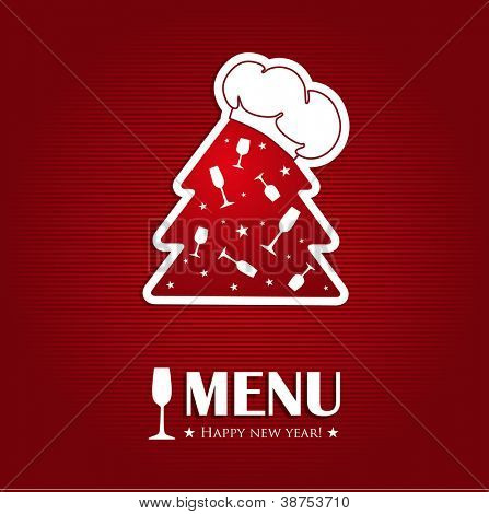 Christmas or new year menu card