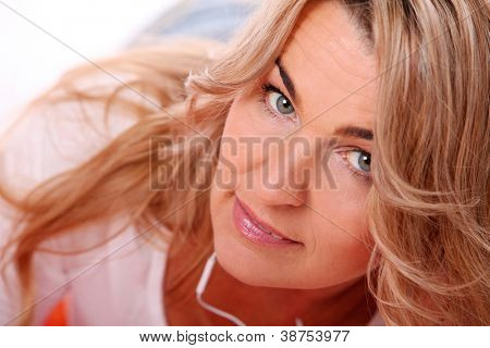 Portrait of attractive middleage woman