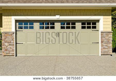 a double garage door