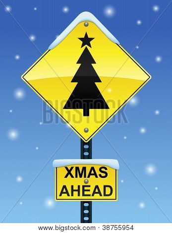 Xmas Ahead Sign