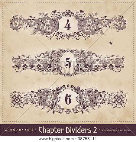 vintage chapter dividers - set 2
