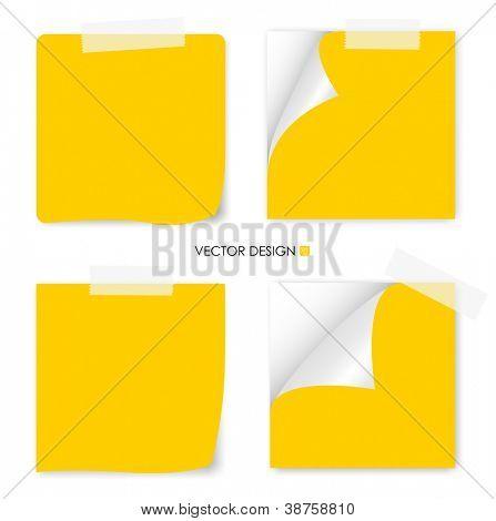 Coleção de documentos diversos, prontos para sua mensagem. Ilustração vetorial.