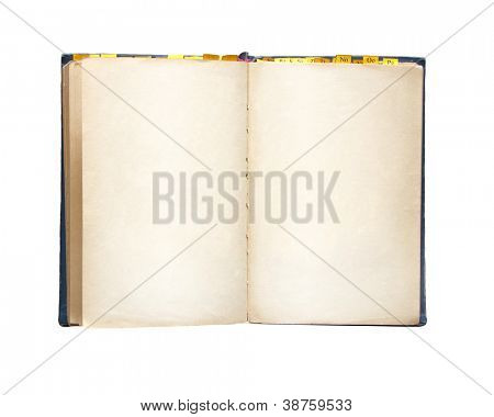 Old book. Object isolated over white