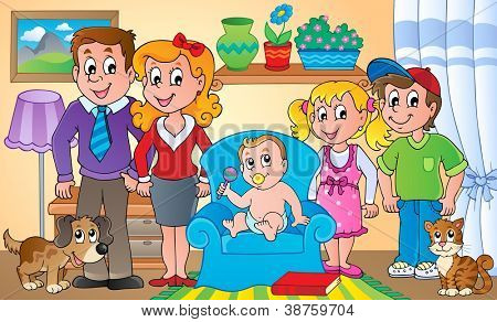Family theme image 1 - illustration.
