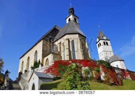 Parish Church And Church Or Our Lady 2   Kitzbuhel Austria