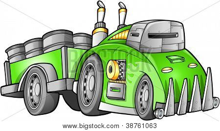 Apocalyptic Car Vehicle Vector