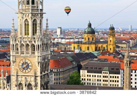 Luftbild von München City center