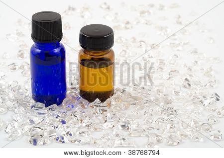 Essential oil and crystal