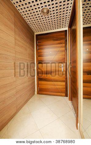 Door in the modern interior