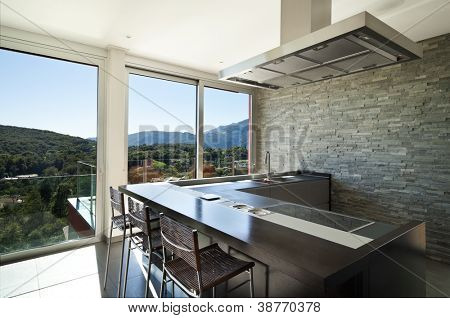 beautiful house, modern style, kitchen