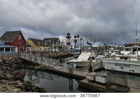 OCEANSIDE, CALIFORNIA - OCTOBER 21: Calm harbor waters as a storm passes through Southern California on October 21, 2012 in Oceanside, California. Oceanside is 40 miles north of San Diego.